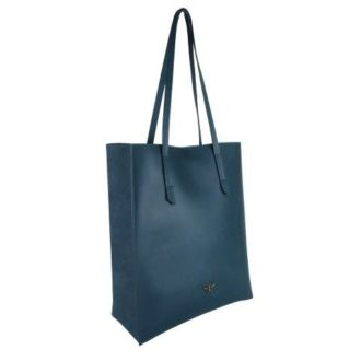 B8384 1 330x330 - Teal Tote bag with purse and Bee - B8384