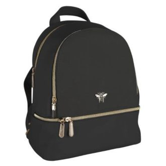 B8385BLK 1 330x330 - Black Backpack with bee - B8385BLK