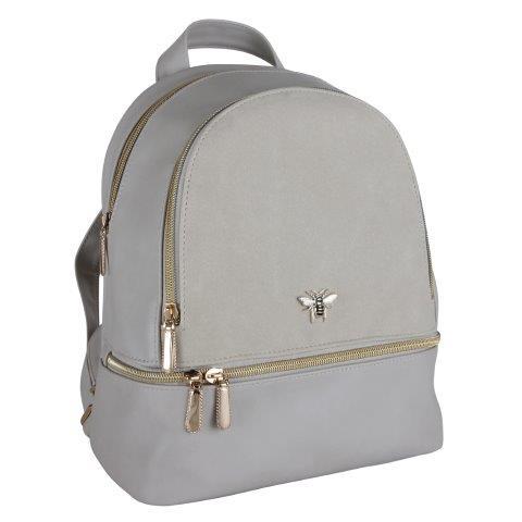 B8385 1 - Beige Backpack with Bee - B8385