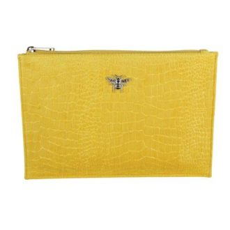 B8386 1 330x330 - Mustard - velvet perfect pouch - B8386