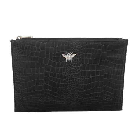 B8388 1 - Black - velvet perfect pouch - B8388