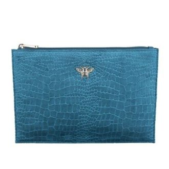 B8390 1 330x330 - Teal - velvet perfect pouch - B8390