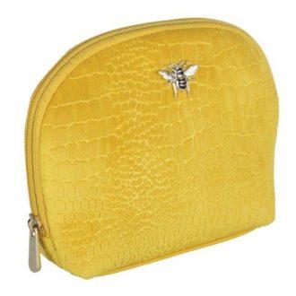 B8391 1 330x330 - Mustard - velvet beauty case - small - B8391