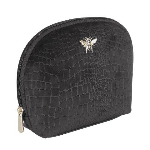 B8393 1 - Black - Velvet beauty case - small - B8393