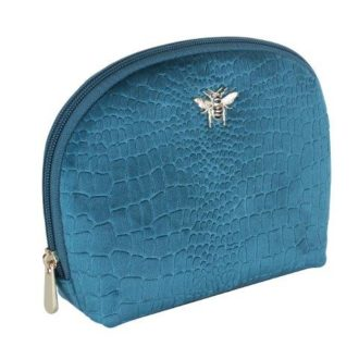 B8394 1 330x330 - Teal - Velvet beauty case - small - B8394