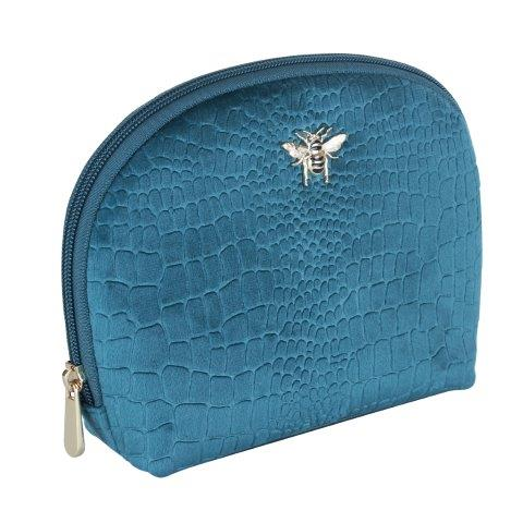 B8394 1 - Teal - Velvet beauty case - small - B8394