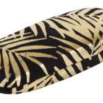 Black Velvet With Gold Foil Palm Leaves Glasses Case