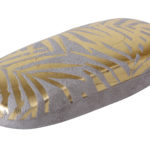 Grey Velvet With Gold Foil Palm Leaves Glasses Case