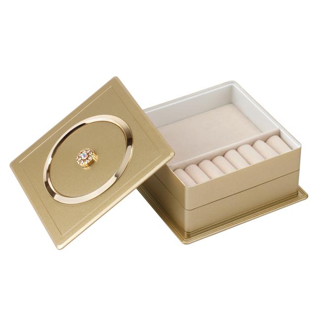 JB201 gold - Gold Jewellery Box with Swarovski Elements - JB201GOLD