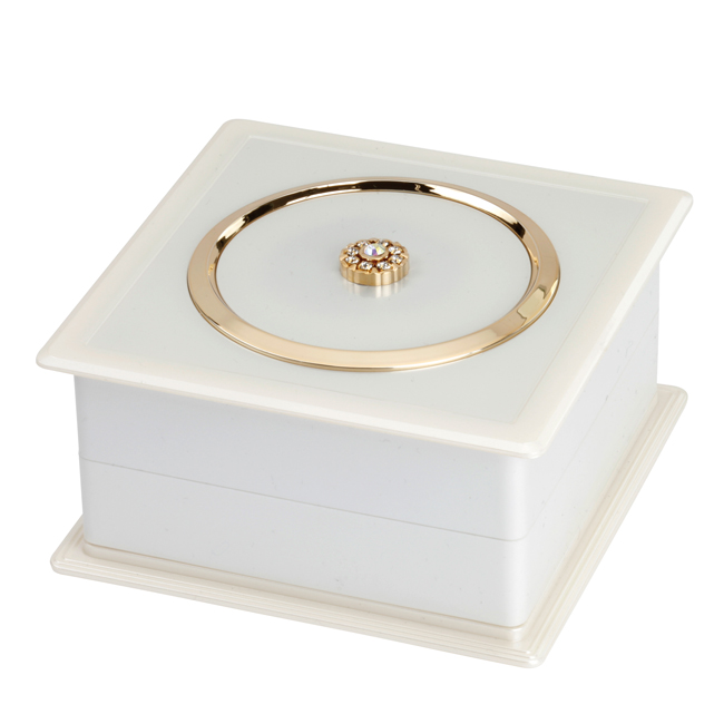 JB201PEARL - Pearl Jewellery Box with Swarovski Elements - JB201PEARL