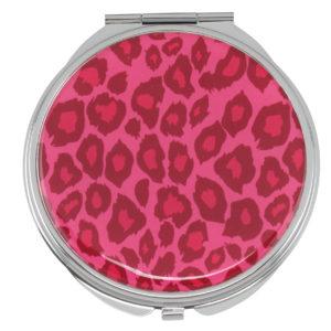 MC 201 pink leopard 300x300 - Pink Leopard Print Mirror Compact - MC201ASST