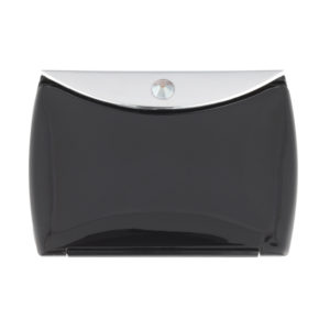 Black Mirror Compact Envelope 3x Mag with Swarovski Crystal Elements