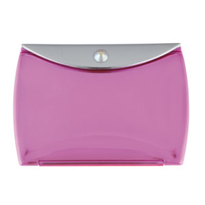 Metallic Pink Mirror Compact Envelope 3x Mag with Swarovski Crystal Elements