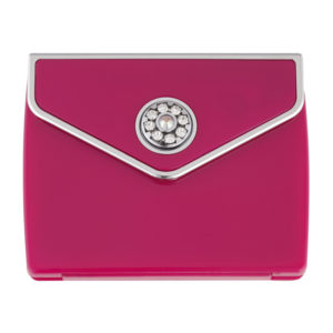 MC 336 PINK 300x300 - Tri Fold Envelope 5x Magnification Mirror Compact with Swarovski Crystal Elements - MC336PINK
