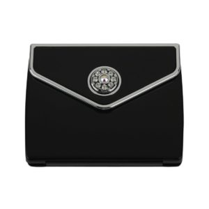 MC 336 blk 300x300 - Tri Fold Envelope 5x Mirror Compact with Swarovski Crystal Elements - MC336SBLK