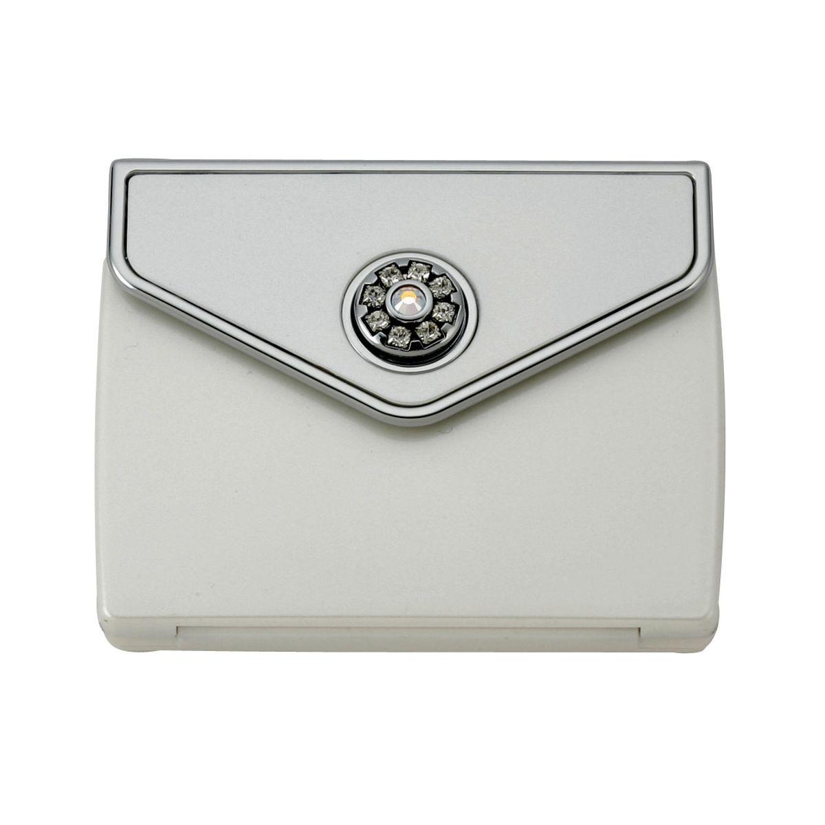 MC 336PRL - Tri Fold Envelope 5x Mirror Compact with Swarovski Crystal Elements - MC336P