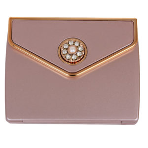 MC 337 BL RG 300x300 - 5x Magnification Mirror Compact Blush Rose Gold with Pearl and Swarovski Crystal Elements - MC337B/RG