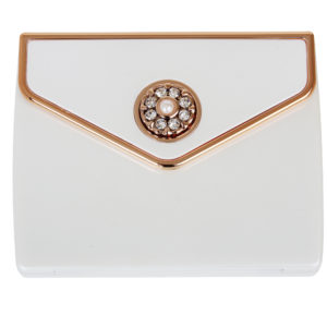 MC 337 Pearl RG 300x300 - 5x Magnification Mirror Compact Pearl Rose Gold with Pearl and Swarovski Crystal Elements - MC337P/RG