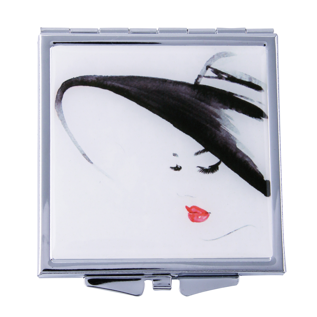 MC 411 - Silhouette Lady Mirror Compact 'Deux'- MC411