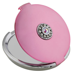 MC 883 MP open 1 300x300 - 5x Magnification Mirror Compact Swarvoski Element - MC883PINK