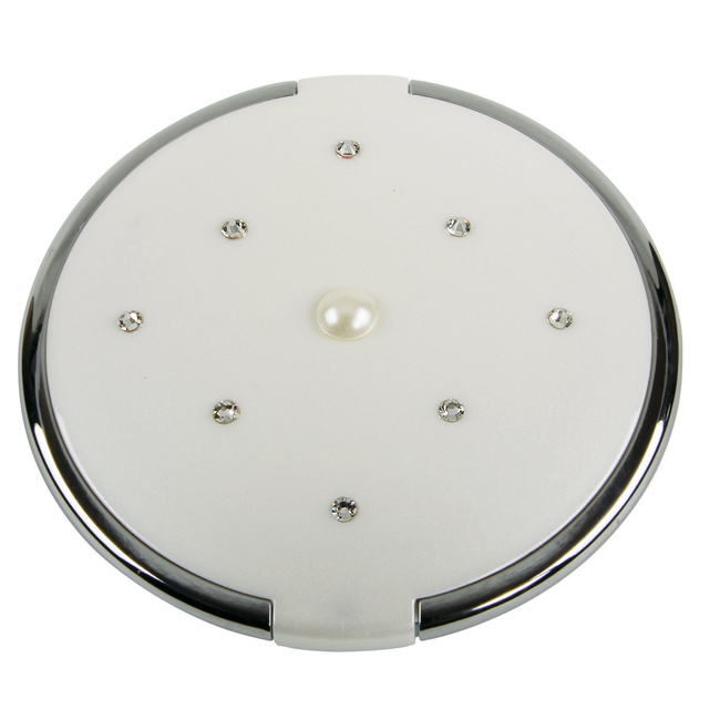 MC 884 Pearl PC - 5x Magnification Mirror Compact with Pearl and Swarvoski Elements - MC884PEARL