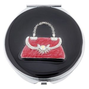 MC249 1 300x300 - Crystal Handbag Mirror Compact - MC249