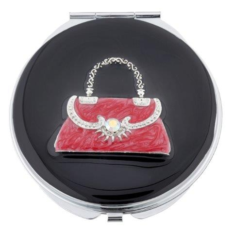 MC249 1 - Crystal Handbag Mirror Compact - MC249