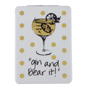 MC311 Light Gold 300x300 - Gin and Bear It' Tipples Mirror Compact Collection - MC311