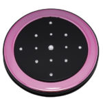MC 357 BP 150x150 - Mirror Compact with Swarovski Crystal Elements Black/Pink - MC357BP
