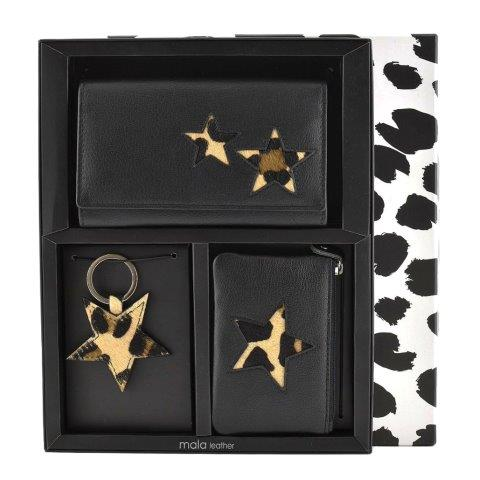 ML006 1 - 3 Piece Leather Boxed Star Gift Set - ML006
