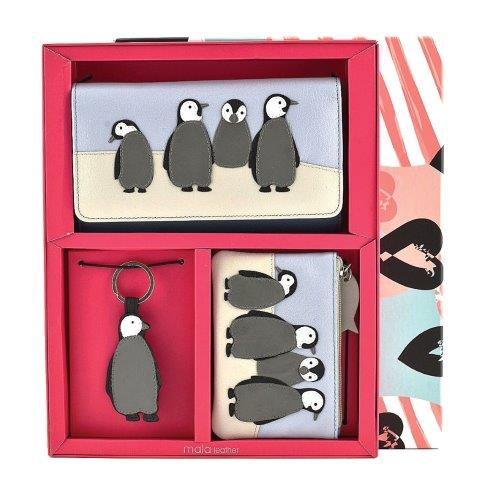 ML007 1 - 3 Piece Leather Boxed Penguin Gift Set - ML007