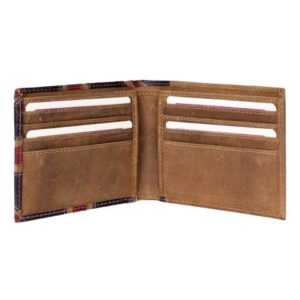 ML19829 2 300x300 - Brown Leather Wallet with Distressed Union Jack Finish - ML19829