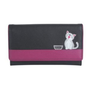 Black Ziggy Flap Over Purse - ML341199BLK