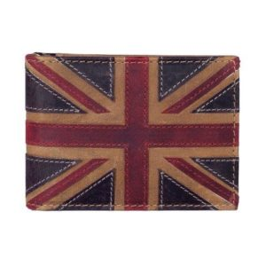 ML514029 1 300x300 - Brown Leather Card Holder with Distressed Union Jack Finish - ML514029