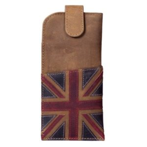 ML514129 1 300x300 - Brown Leather Glasses Case with Distressed Union Jack Finish - ML514129