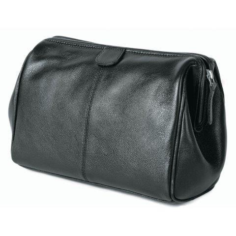 Men's Genuine Leather Wash Bag - ML57726BLACK