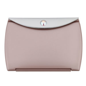 Blush Mirror Compact Envelope 3x Mag with Swarovski Crystal Elements